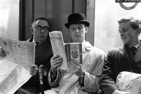 Reading on tube, 1960