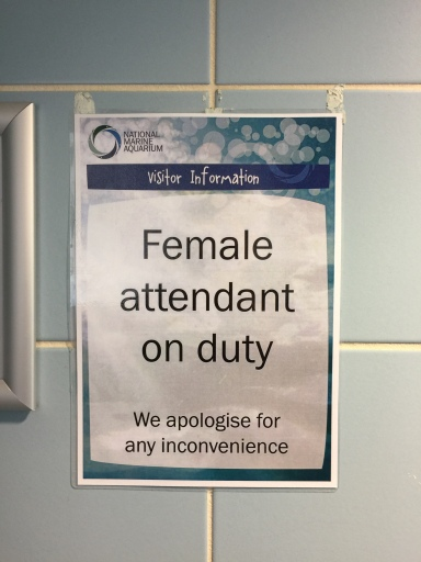 Female attendant on duty SORRY